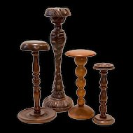 5 Wooden Shop Hatstands from France