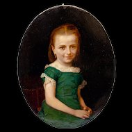 Oil Painting of a Young Girl