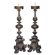 Pair of 18th C. Church Candlesticks from Florence Italy.