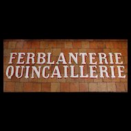Vintage Enamelled Letters from France