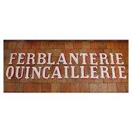 Vintage Enamelled Letters from France