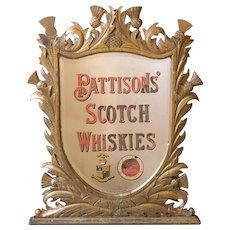 Rare Victorian Pub Mirror from Scotland