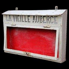 Vintage Metal Menu Signboard from France