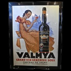 Rare Original Vintage French Wine Poster