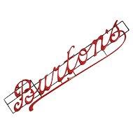 Carved Wood Antique Shop Sign 'Burtons'