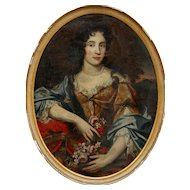 17thC. Oil Painting of a Courtesan