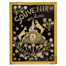 Naive Folk Art Picture from the French Alps