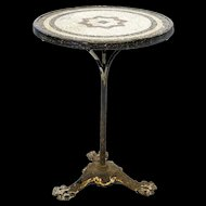Decorative Bistro Table from France with Mosaic Top