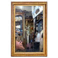 Handsome 19thC. 'Linenfold' Mirror from France.