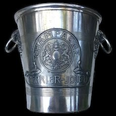 Vintage Champagne Ice Bucket with Royal Coat of Arms