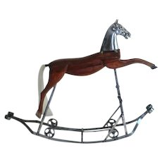 Antique Rocking Horse from France