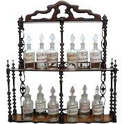 Set of 6 Spanish Pharmacy Glass Jars
