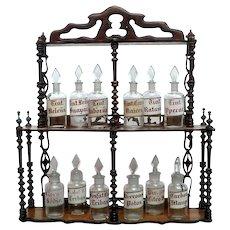 Set of 6 Herbalist's Glass Jars from Spain.
