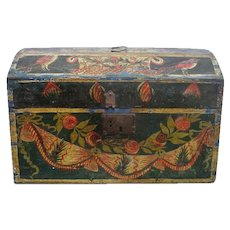"""Traditional Painted """"Marriage' Box from France"""