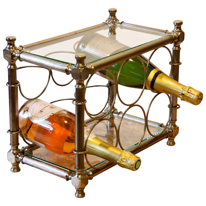 Vintage Table Top Wine Rack From Italy Relic Antiques Of London