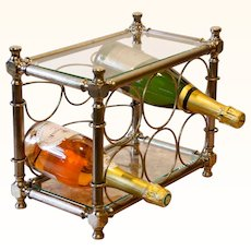 Vintage Table-top Wine Rack from Italy