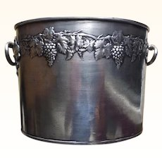 Vintage Magnum Champagne Ice Bucket in Pewter