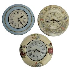 Vintage Toleware Wallclocks from France