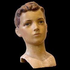Boy Mannequin Head  by Siegel of Paris