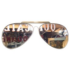 'Aviator' Sunglasses  '70's Optician's Trade Sign