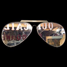 'Aviator' Sunglasses  '70's Optician's Trade Sign
