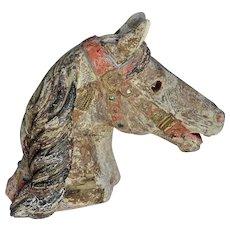 Beautiful 19th C.Carousel Horse's Head
