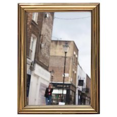 Brass Framed Bistro Mirror from Paris, France.