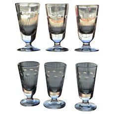 Set of 6 Antique Absinthe Glasses from France