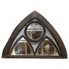 19th Century Architectural Apex with 3 Mirrors