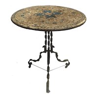 """""""Gypsy' Kilim Top Table from Spain"""