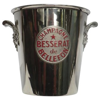Vintage  Pweter Champagne Ice Bucket with Growers' Plaque