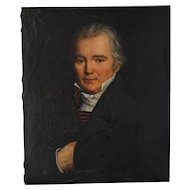 Signed Portrait Painting in Oil of French Nobleman, Mid 19th C.