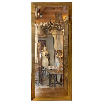 Exceptional 19thC. Brass Frame 'Split-Plate' Mercurey Mirror from Parisian Brasserie