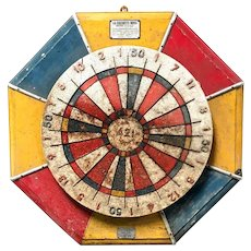 Vintage Spinning Dartboard Game from a French Fairground