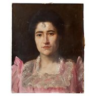 Portrait of a Woman in Oil from France