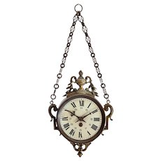 Antique 'Boulangere' Wallhanging Clock from France
