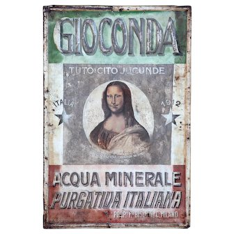 Rare Tolework 'Mona Lisa' Advertising Sign from Italy