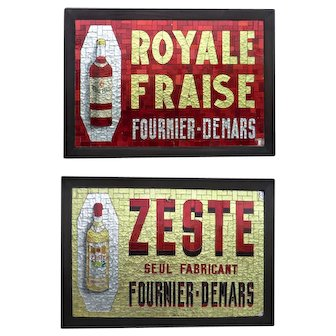 Mosaic Liqueur Advertising Sign from France