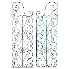 Pair of Small Decorative 19th Century Iron Gates from Southern France
