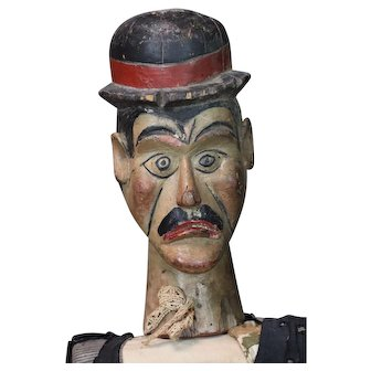 Charlie Chaplin Target Figure from a French Fairground