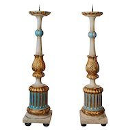 Magnificent Pair of Candlesticks from an Italian Church