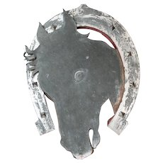 Tolework Horse's Head Sign from a Livery Stable in France