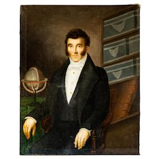 Large Oil Portrait Painting of Early 19th C. Frenchman.
