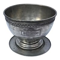 Vintage Pewter Ice Bowl from France for famous grower  Champagne  'Pommery'