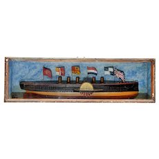 Superb Victorian Half-Hull Model of the Great Eastern Steamship.