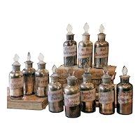 Silvered Herbalist's Jars from Spain- Price Each
