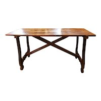 18th C. Fruitwood Refectory Table from Catalonia,  Eastern Spain