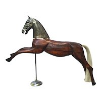19th Century Wooden Horse Toy from France