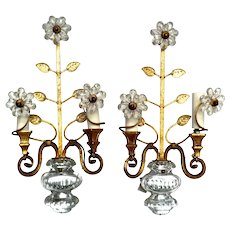 Stunning Pair of Bagues Wall Lights from Paris.