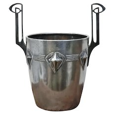 Art Nouveau Era Champagne Bucket in Pewter by WMF of Austria.